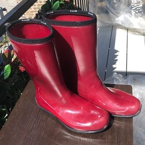 Kamik Red Rubber Rain Boots